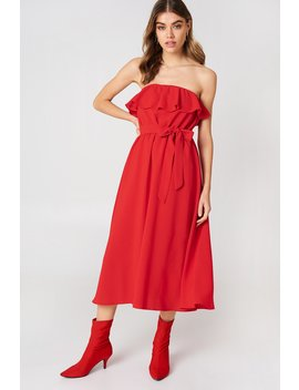 Flounce Midi Dress by Na Kd