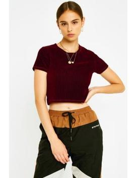 Uo Burgundy Baby Corduroy T Shirt by Urban Outfitters