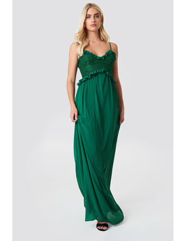 Lace Ruffle Maxi Dress by Na Kd