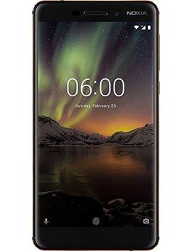 "Nokia 6.1 Smartphone Da 5.5"" Ips Full Hd, 3 Gb Ram, 32 Gb Rom, Snapdragon 630 2.2 G Hz, Dual Sim, Camera Da 16 Mp, Andoid One, Nero/Copper [Italia] by Nokia"