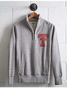 Tailgate Men's Texas Tech Half Zip Fleece Popover by American Eagle Outfitters