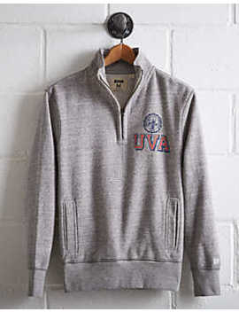 Tailgate Men's Uva Half Zip Fleece Popover by American Eagle Outfitters