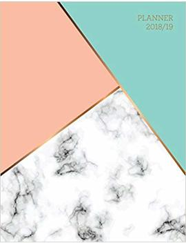 Planner 2018 2019: Marble + Gold Design | Jul 18   Dec 19 | 18 Month Mid Year Weekly View Planner Organizer With Motivational Quotes + To Do Lists (Weekly View Planners) by Jolly Journals