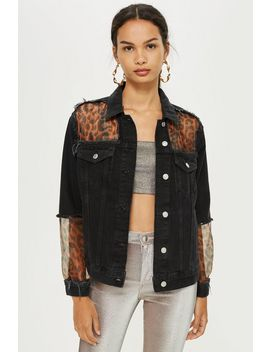 Leopard Organza Denim Jacket by Topshop