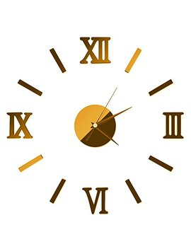 Luxsea 3 D Home Diy Mirror Design Wall Clocks Home Decor Decal Stickers Wall Clock by Luxsea