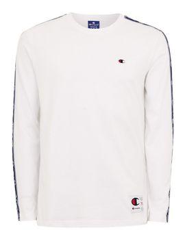 Champion White Taping Long Sleeve T Shirt by Topman