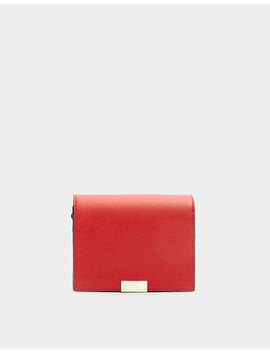 Red Crossbody Bag With Two Tone Strap by Pull & Bear
