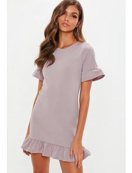 Lilac Frill Shift Dress by Missguided
