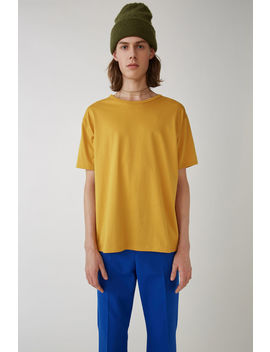 Crewneck T Shirt Mustard Yellow by Acne Studios