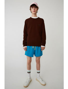 Crewneck Sweater Chocolate Brown by Acne Studios