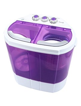 Kuppet Mini Portable Washing Machine, Compact Durable Design To Wash All Your Laundry, Twin Tub Washer Dryer Combo Apartments, Dorms, Rv Camping Swim Suit Spinner Dryer (Purple) by Kuppet