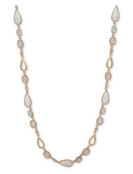 "Multi Stone & Crystal 42"" Statement Necklace by Anne Klein"