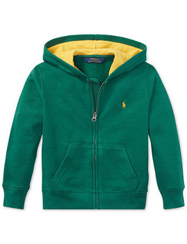 Little Boys Fleece Hoodie by Polo Ralph Lauren