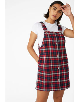Preppy Pinafore Dress by Monki