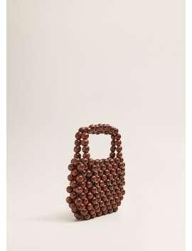 Beaded Wood Handbag by Mango