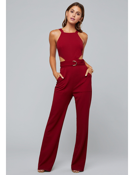 Side Cutout Jumpsuit by Bebe