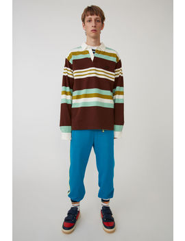 Rugby Shirt Brown/Mint by Acne Studios