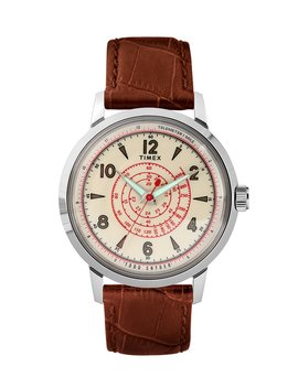 Timex + Todd Snyder Beekman Watch In Brown by Timex + Todd Snyder