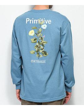 Primitive Tulip Blue Long Sleeve T Shirt by Primitive