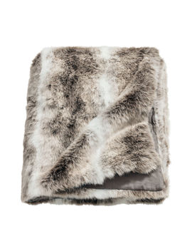 Faux Fur Blanket by H&M