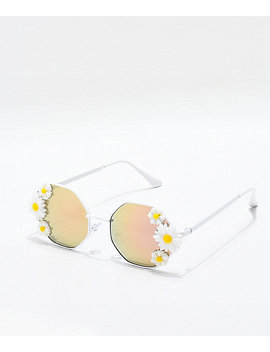 Ruby White And Purple Revolution Sunglasses by I Sea