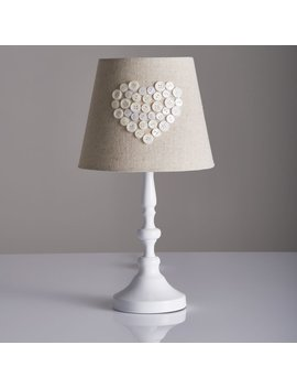 Wilko Pearl Heart Lamp White by Wilko
