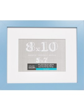 Mineral Blue Belmont Frame With Mat By Studio Décor® by Studio Decor