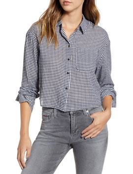 Crop Gingham Shirt by Tommy Jeans