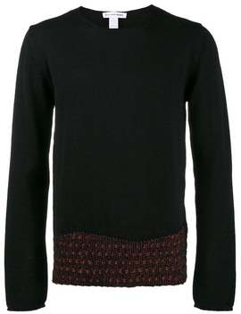 Comme Des Garçons Shirtblack Sweater With Red Detailhome Men Comme Des Garçons Shirt Clothing Knitted Sweaters by Comme Des Garçons Shirt