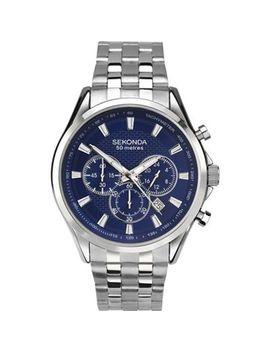 Sekonda   Men's Silver Chronograph Watch 1393.28 by Sekonda