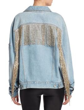 Fringe Denim Jacket by Helmut Lang
