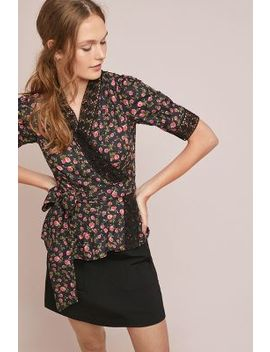Lavaudieu Floral Wrap Top by Kopal