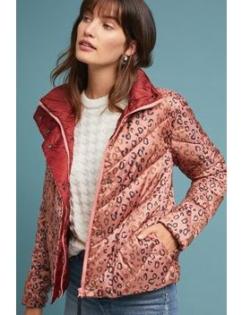 Quilted Leopard Puffer Jacket by Scotch & Soda