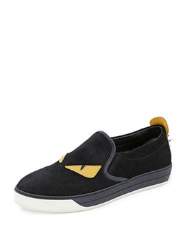 Men's Monster Slip On Sneakers by Fendi