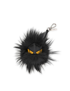 fur-monster-charm-for-mens-bag,-black by fendi