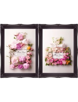Dior Art Print / Miss Dior Blooming Bouquet Art / Vintage Art / Wall Art / Poster Print / Floral Art / Prints / Bouquet / Perfume Art by Farfetchart