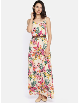 Only Women Multicoloured Printed Maxi Dress by Only