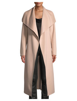 Double Face Wool Trench Coat W/ Belt by Mackage