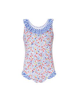 John Lewis Girls' Micro Floral Swimsuit, Multi by John Lewis