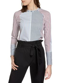 Mixed Stripe Cotton Shirt by Halogen