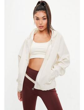 Active Cream Scuba Draw Cord Hoodie by Missguided