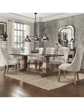 Janelle Extended Rustic Zinc Dining Set by I Nspire Q