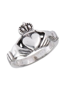 .925 Sterling Silver Traditional Claddagh Celtic Ring by Doublebeez Jewelry