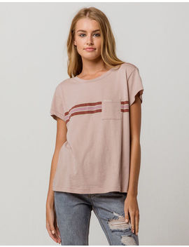 Rvca Day Stripe Womens Pocket Tee by Rvca