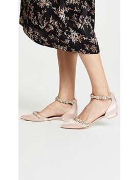 Vivien Ankle Strap Flats by Badgley Mischka