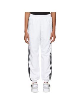White Adidas Originals Edition Logo Track Pants by Gosha Rubchinskiy