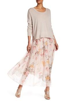 Floral Print Silk Maxi Skirt by Luma