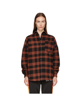 Red Logo Over Shirt by Palm Angels