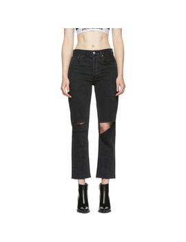 Black Originals Stove Pipe Ripped Jeans by Re/Done
