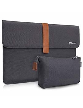 Tomtoc Slim Laptop Sleeve Compatible With Microsoft Surface Pro | 13 Inch New Mac Book Pro A1989 1706 & A1708 | Dell Xps 13, Vintage Envelope Carrying Case With Small Accessory Bag by Tomtoc